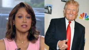 Stacey Dash (Image via Fox News video) | Donald Trump (Photo by Andrew H. Walker/Getty Images)