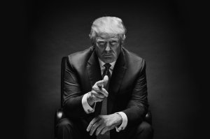 Black and white Trump